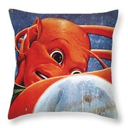Science Fiction Magazine Throw Pillow