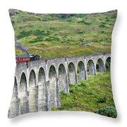 Scottish Highlands Throw Pillow