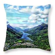 Scottish Landscape Throw Pillow