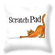 Scratchy Cat Throw Pillow