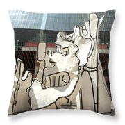 Sculpture In Chicago Throw Pillow