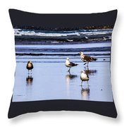Sea Birds Throw Pillow