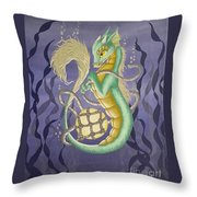 Sea Dragon II Throw Pillow
