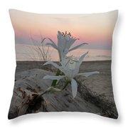 Summer Sea Lilies Throw Pillow