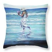 Sea Walk Throw Pillow