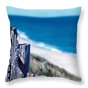 Seafence Throw Pillow