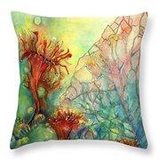 Seaflowers II Throw Pillow