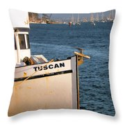Seagull Morro Bay California Throw Pillow