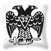 Seal: Freemasonry Throw Pillow