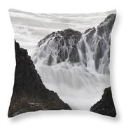 Seal Rock Waves And Rocks 2 Throw Pillow