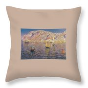 Seascape View Of Palma De Mallorca Throw Pillow