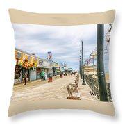 Seaside Boardwalk Throw Pillow