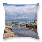 Seaton Harbour - Devon Throw Pillow