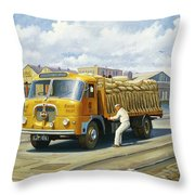 Seddon At Poole Docks. Throw Pillow