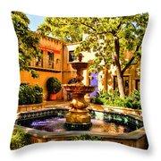 Sedona Tlaquepaque Shopping Center Throw Pillow
