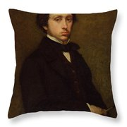 Self Portrait Throw Pillow by Edgar Degas