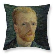Self-portrait Paris July  August 1887 Vincent Van Gogh 1853  1890  Throw Pillow