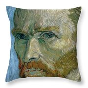 Self-portrait Throw Pillow by Vincent Van Gogh