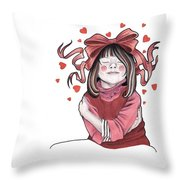 Selfie Throw Pillow by Deadcharming Art