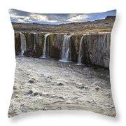 Selfoss Waterfall Throw Pillow
