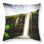 Seljalandfoss - Iceland Throw Pillow