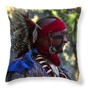 Seminole Warrior Throw Pillow