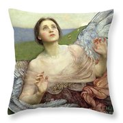 Sense Of Sight Throw Pillow by Annie Louisa Swinnerton