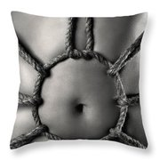 Sensual Bondage Throw Pillow