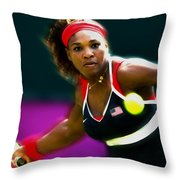 Serena Williams Eye On The Prize Throw Pillow