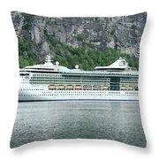 Serenade Of The Seas Throw Pillow