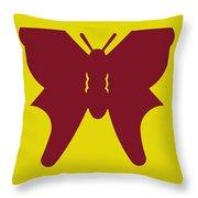 Serendipity Butterflies Brickgoldblue 5 Throw Pillow