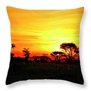 Serengeti Sunset Throw Pillow