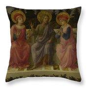 Seven Saints Throw Pillow