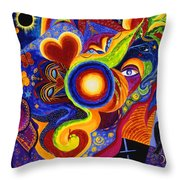 Magical Eclipse Throw Pillow