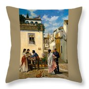 Sevillian Square Throw Pillow