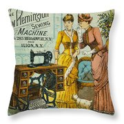 Sewing Machine Ad, C1880 Throw Pillow by Granger