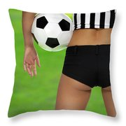 Sexy Referee Throw Pillow