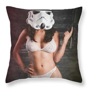 Sexy Trooper Throw Pillow