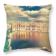 Shabby Chic Versailles Palace Gardens Throw Pillow