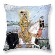 Shah Jahan (1592-1666) Throw Pillow