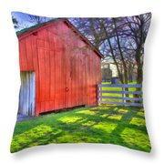 Shaker Carriage Barn 2 Throw Pillow