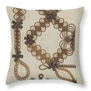 Shaker Hair Wreath Throw Pillow