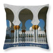 Sheikh Zayed Grand Mosque Abu Dhabi United Arab Emirates Throw Pillow