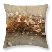 Shells In Seaweed Throw Pillow