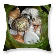 Shells Under Glass Throw Pillow