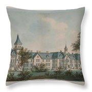 Sheppard Asylum  Throw Pillow