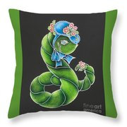 She's Just A Worm II  Throw Pillow