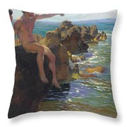 Ship Ahoy Throw Pillow by Paul Von Spaun