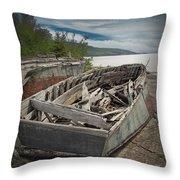 Shipwreck At Neys Provincial Park Throw Pillow
