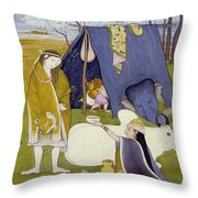 Shiva And His Family Throw Pillow